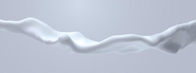 Respingo de líquido branco cremoso
