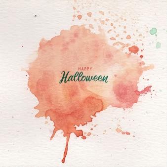Respingo de tinta laranja abstrato halloween