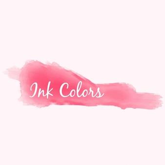 Respingo de tinta rosa