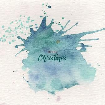 Respingo de tinta verde abstrato natal