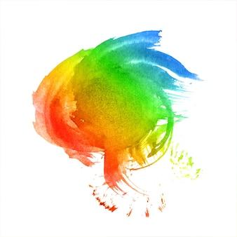 Respingo desenhado à mão em aquarela colorida