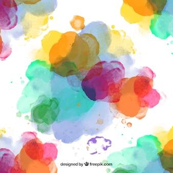 Respingos coloridos tintas