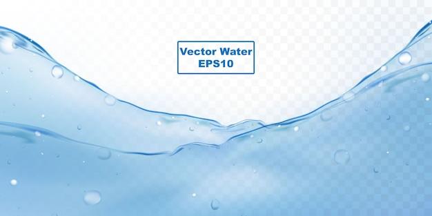 Respingos de água e bolhas de ondulação