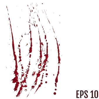Respingos de sangue pintados
