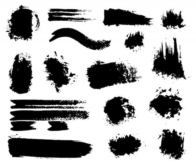 Respingos de tinta acrílica úmida e seca feitos à mão