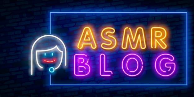 Resposta meridiana sensitiva autônoma, asmr em neon