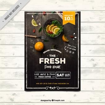 Restaurant brochura no estilo do vintage