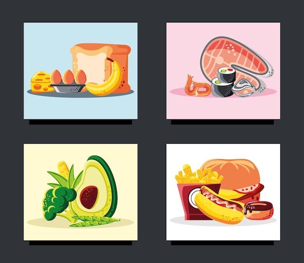 Restaurante com menu de comida fresca