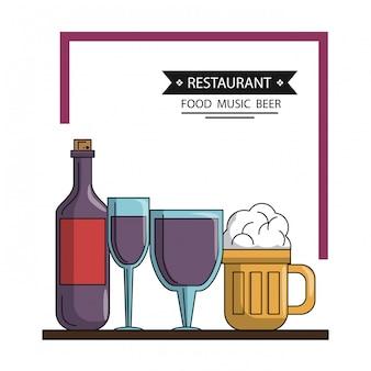 Restaurante comida e jantar design