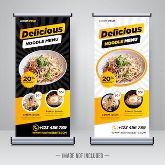 Restaurante de comida arregaçar modelo de banner