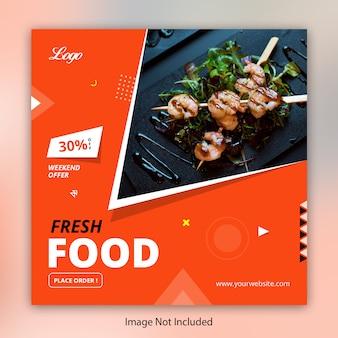 Restaurante de comida instagram post