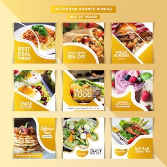 Restaurante de comida para postagem de mídia social