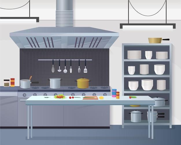 Restaurante de cozinha de superfície de trabalho para cookin