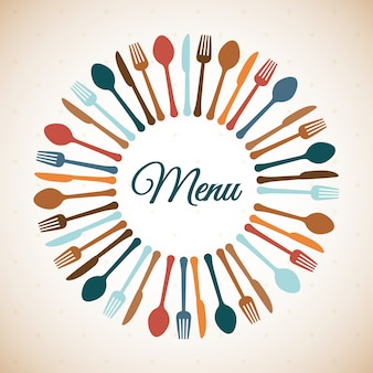 Restaurante, desenho, ilustração