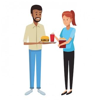 Restaurante e pessoas