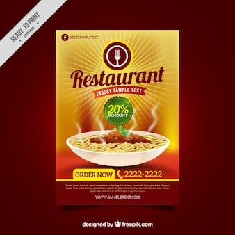 Restaurante folheto de desconto