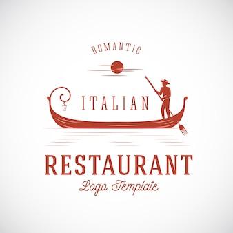 Restaurante italiano conceito abstrato modelo de logotipo.