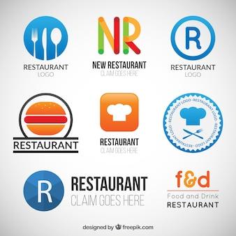 Restaurante logo set