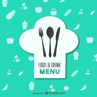Restaurante menu de comida vector