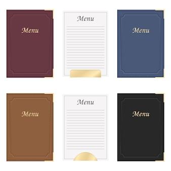 Restaurante menu livro design ilustração isolado no fundo branco