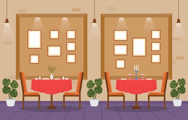 Restaurante moderno e vazio de café