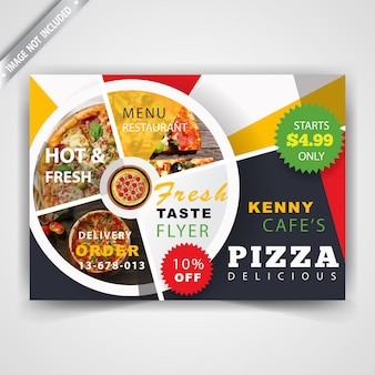Restaurante panfleto panfleto horizontal