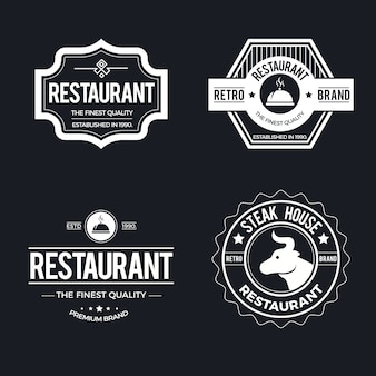 Restaurante vintage logotipo conjunto modelo