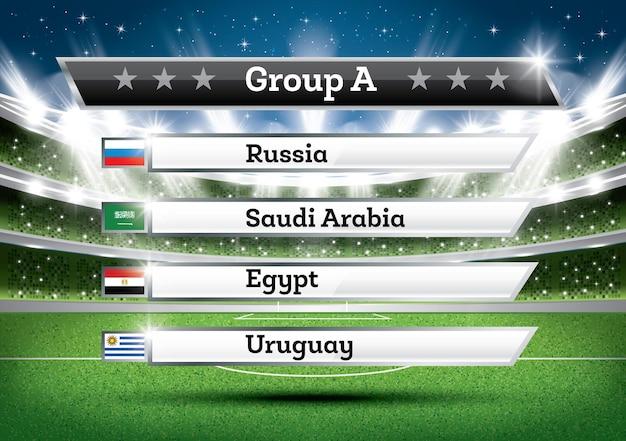 Resultado do grupo a do campeonato de futebol