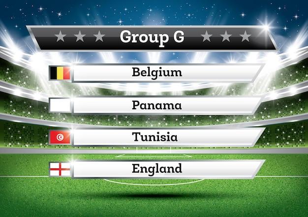 Resultado do grupo g do campeonato de futebol