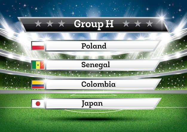 Resultado do grupo h do campeonato de futebol