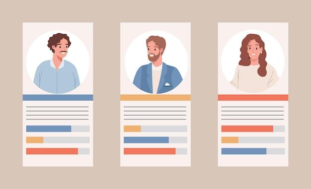 Resultados eleitorais ilustração plana de candidatos políticos e estatísticas de voto
