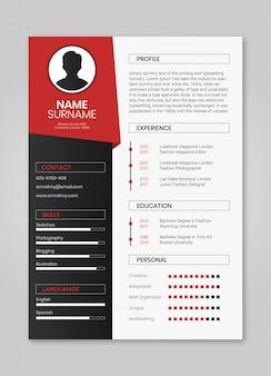 Resume red minimalista
