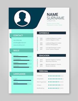 Resume template minimalista