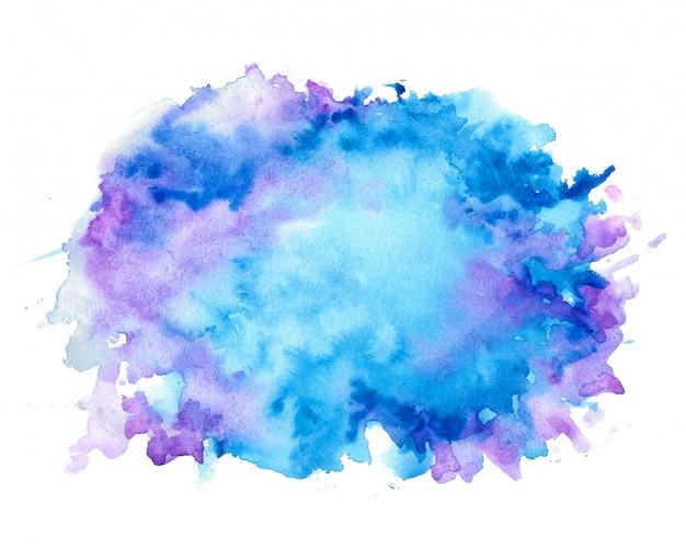 Resumo agradável tons de azul aquarela textura de fundo