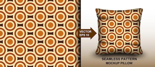 Resumo. anos 60 padrão colorido sem emenda, estilo geométrico vintage fundo retrô. design para travesseiro, impressão, moda, roupas. mockup template pillow seamless pattern.