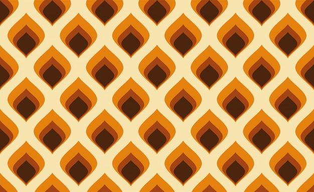 Resumo. anos 60 padrão colorido sem emenda, estilo geométrico vintage fundo retrô.