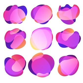 Resumo borrão forma livre formas cor gradiente cores efeito transição suave