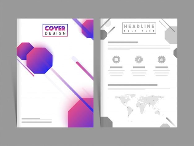 Resumo business brochure, apresentação de design de capa.