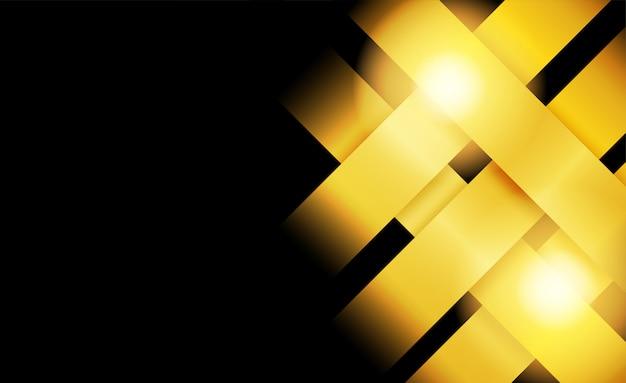 Resumo. camada de sobreposição dourada sobre fundo preto. luz e sombra. fundo futurista moderno.