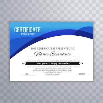 Resumo certificado prêmio prêmios modelo de design de diploma
