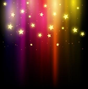 Resumo colorido de estrelas