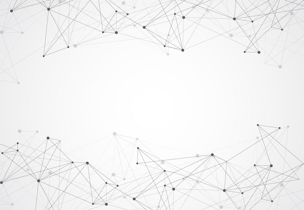 Resumo conectando pontos e linhas fundo geométrico