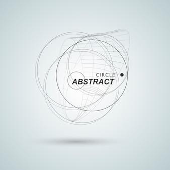 Resumo conectar fundo de design do círculo