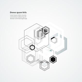 Resumo conectar fundo estrutura hexagonal