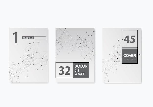 Resumo conjunto modelo de capa de brochura para design de banner. projeto mínimo infográfico. layout de folheto de vetor. modelo de layout de banner da web. ilustração do gráfico vetorial.