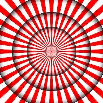 Resumo contexto festivo. linhas brancas de palco de circo e holofotes.