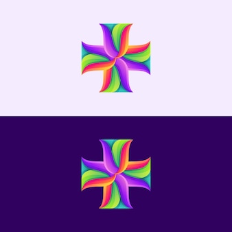 Resumo cruz logotipo