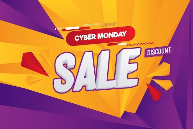 Resumo cyber segunda-feira venda vector background ilustração