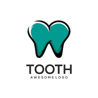 Resumo da ilustração do logotipo do dente