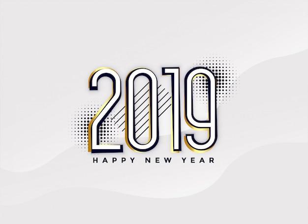 Resumo de 2019 ano novo design de fundo
